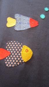 camiseta de peces